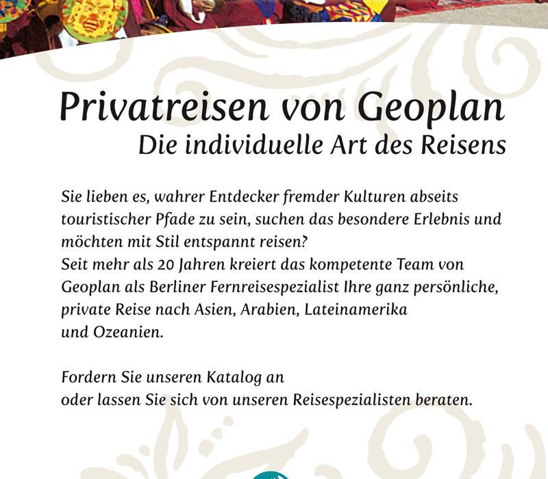 Anzeige, Kunde: Geoplan Touristik